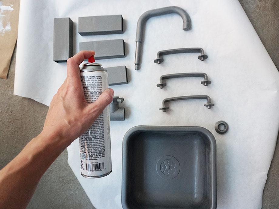 A kids kitchen IKEA hack.