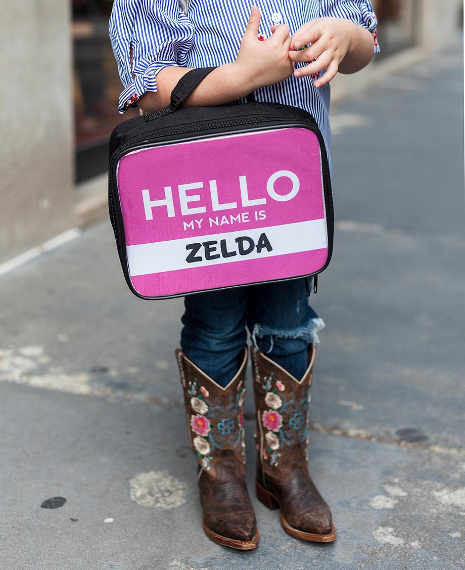 A back to school pink preschool backpack.