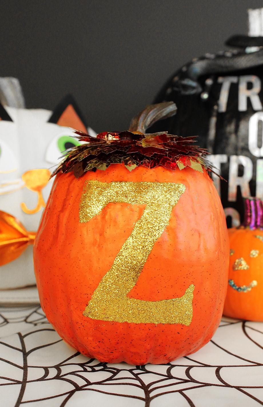 An alphabet pumpkin DIY for Halloween.