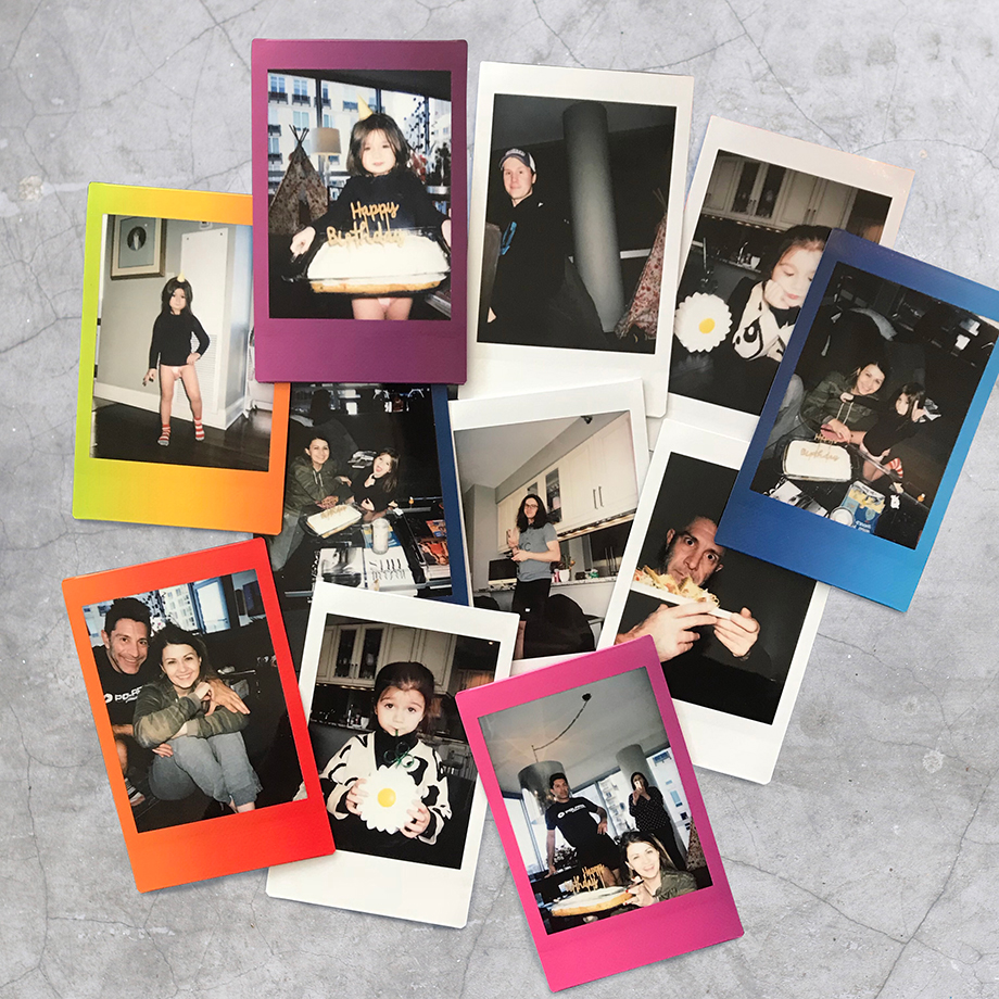 Zelda's Thanksgiving Polaroids.