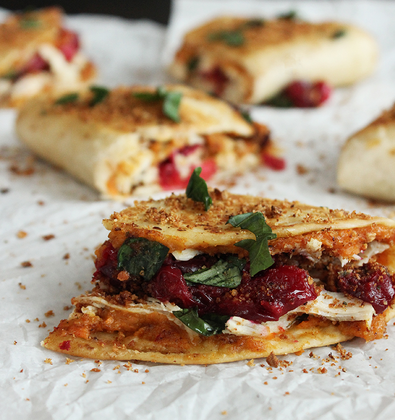 A simple and delicious recipe for leftover Thanksgiving quesadillas.