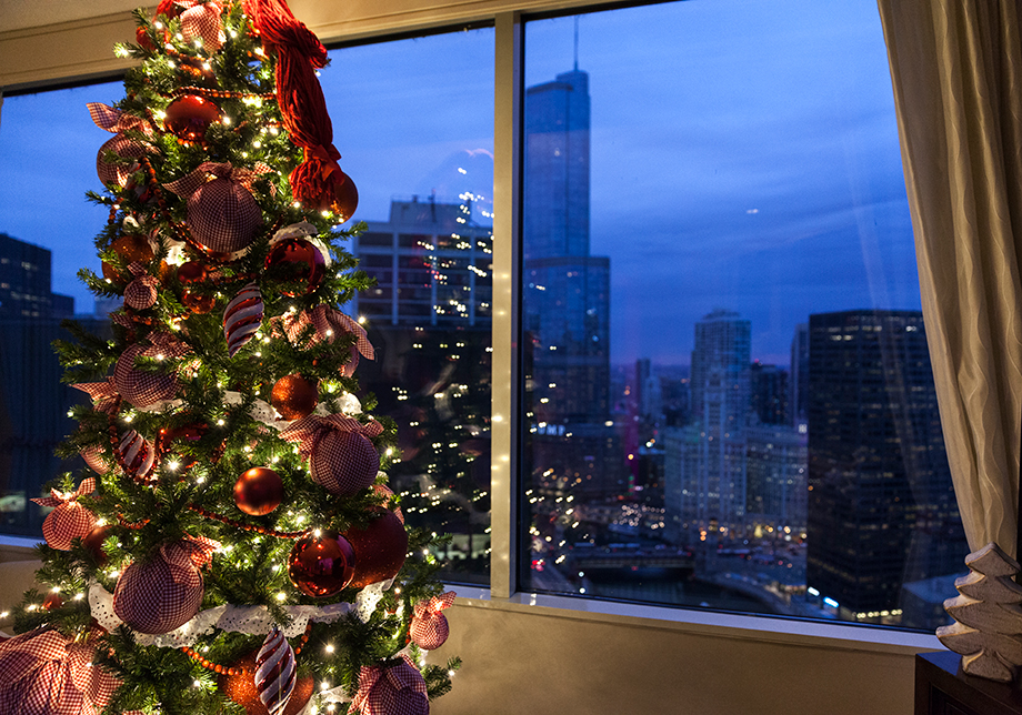 Christmas at the Swissotel in Chicago.