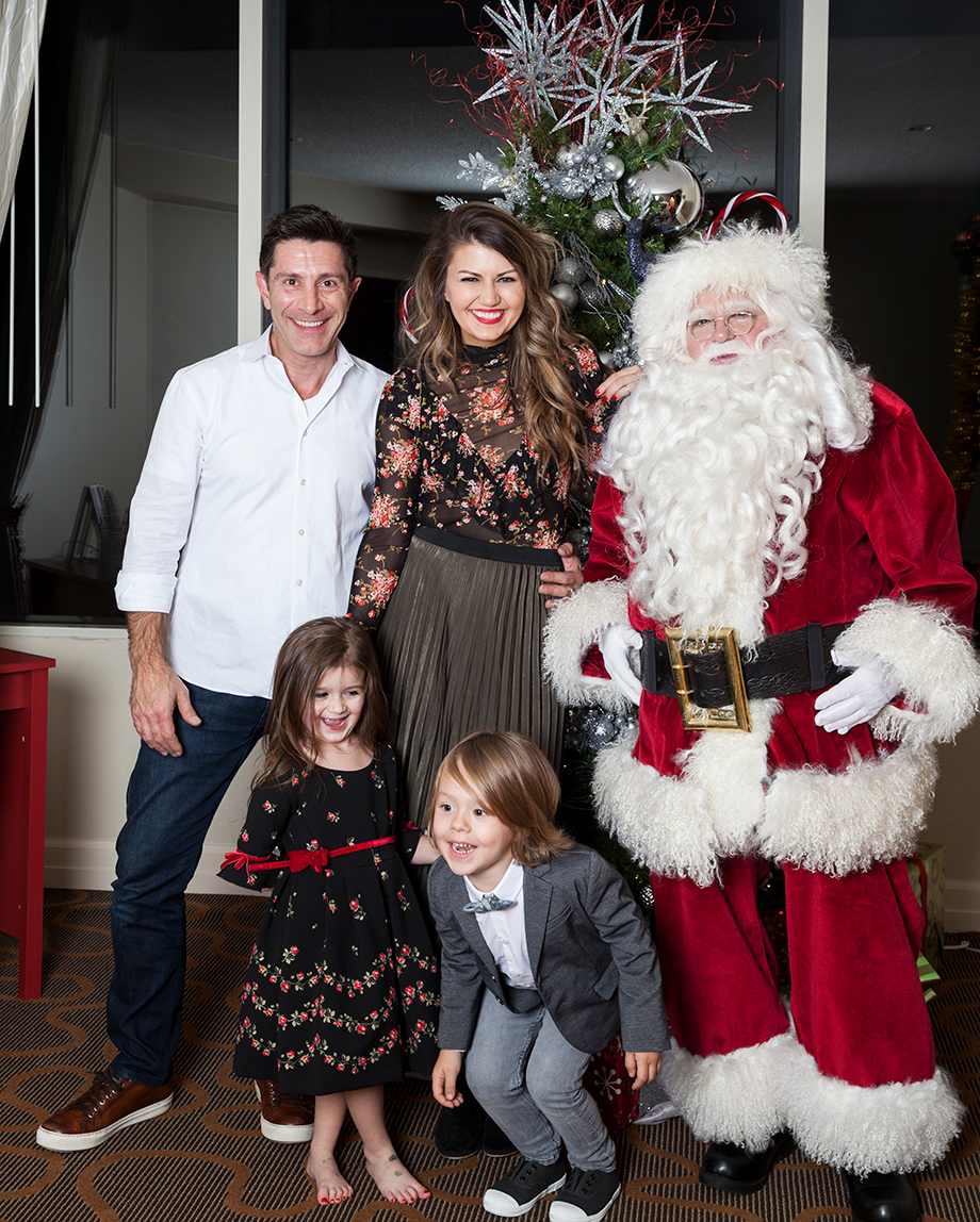 A family Christmas picture with Santa.