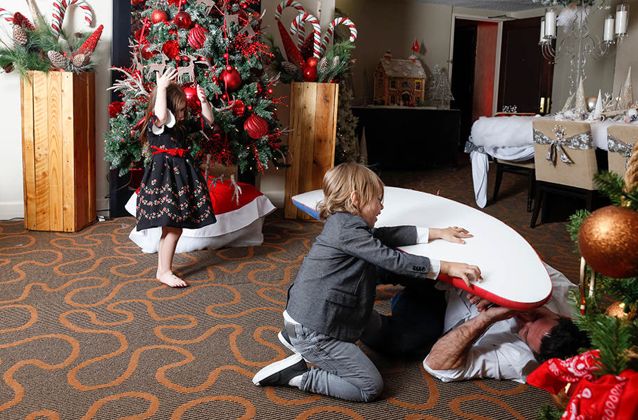 Christmas toys in the Santa Suite of the Swissotel.