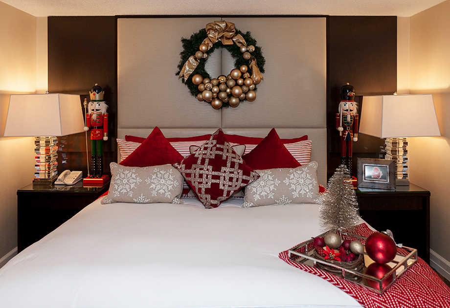 The Santa Suite Bedroom at the Swissotel.