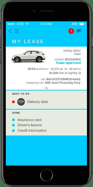 Lease a car with the Honcker app.