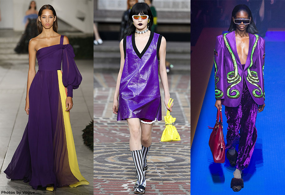 Ultra violet on the runway.