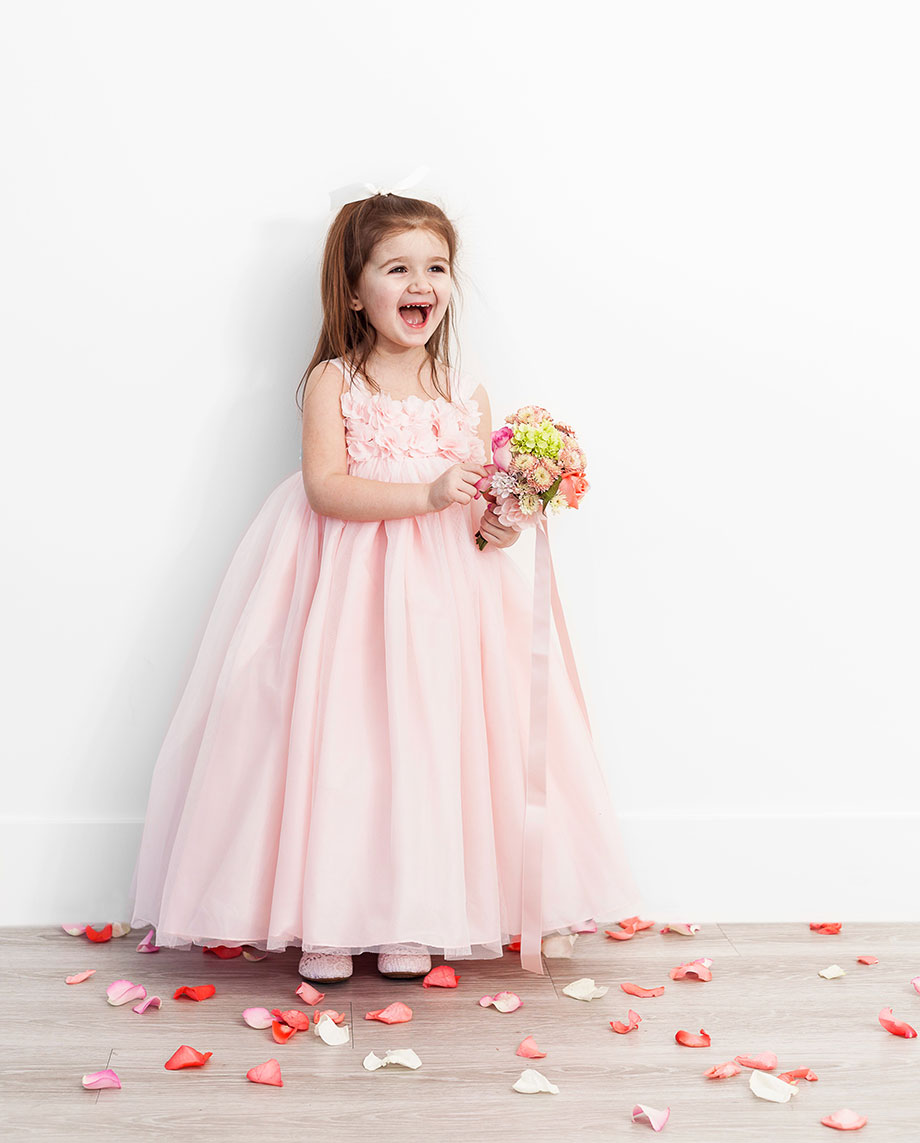 Davids bridal flower girl inspiration glitter and bubbles a gorgeous pink flower girl dress from davids bridal izmirmasajfo Images