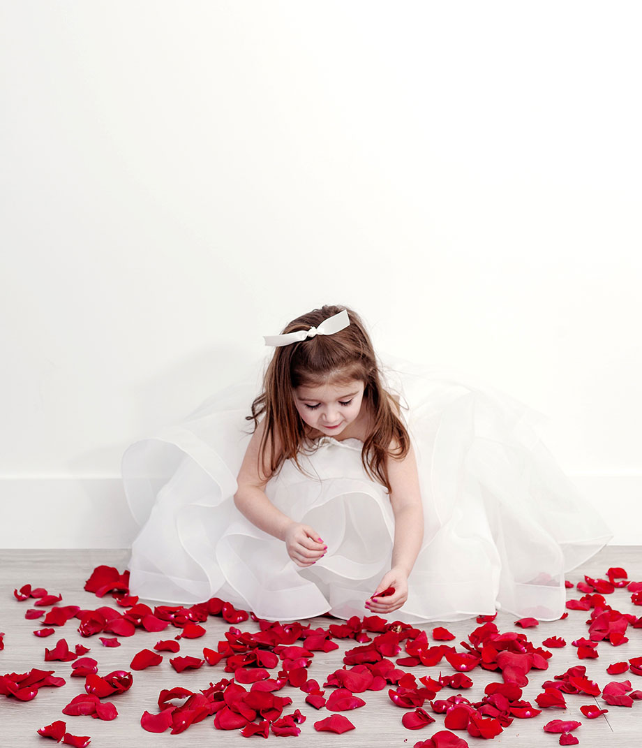 What a flower girl should wear.