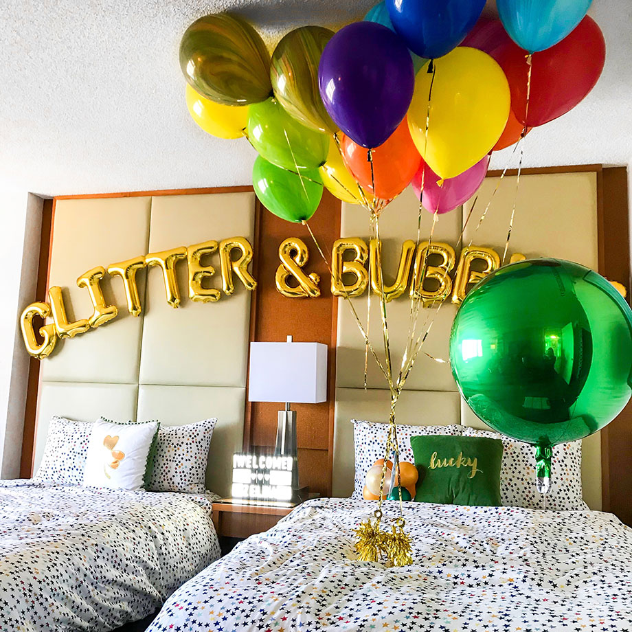 The Swissotel welcomes Zelda of Glitter and Bubbles to St. Patrick's Day.