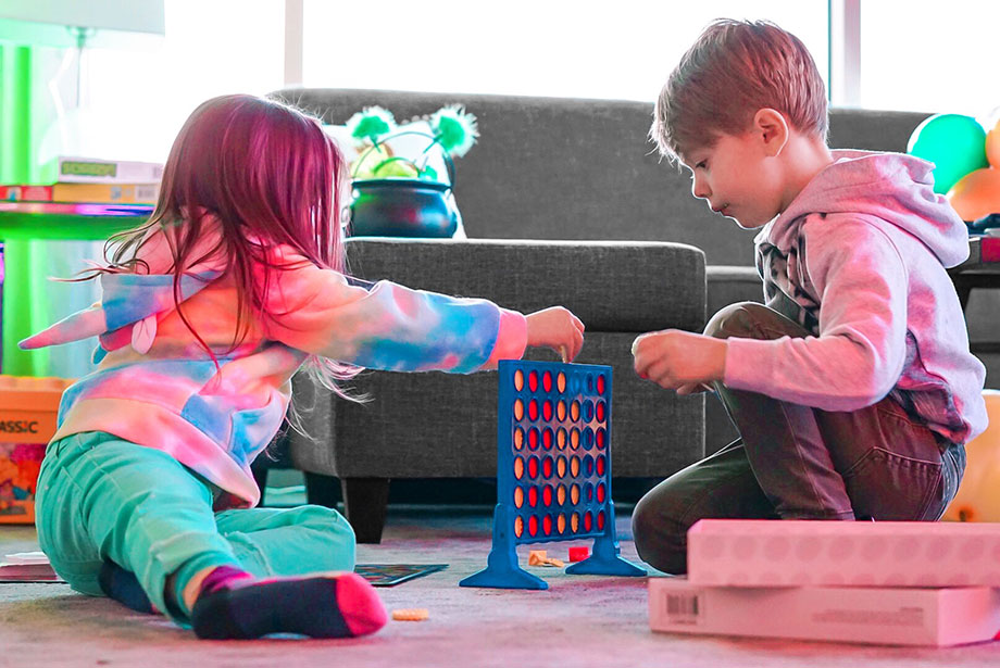 Zelda of Glitter and Bubbles plays with her friend in the Kids Suite at the Swissotel.