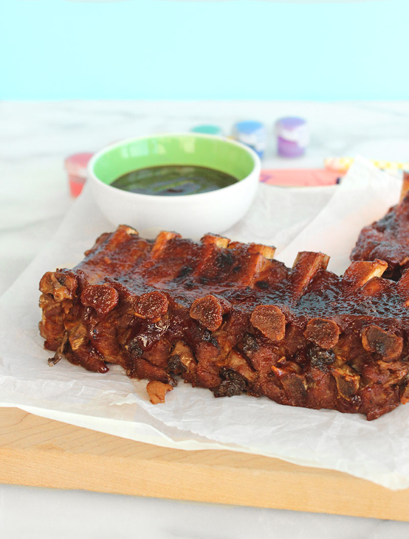 A simple recipe for fall off the bone ribs by Glitter and Bubbles for Father's Day.