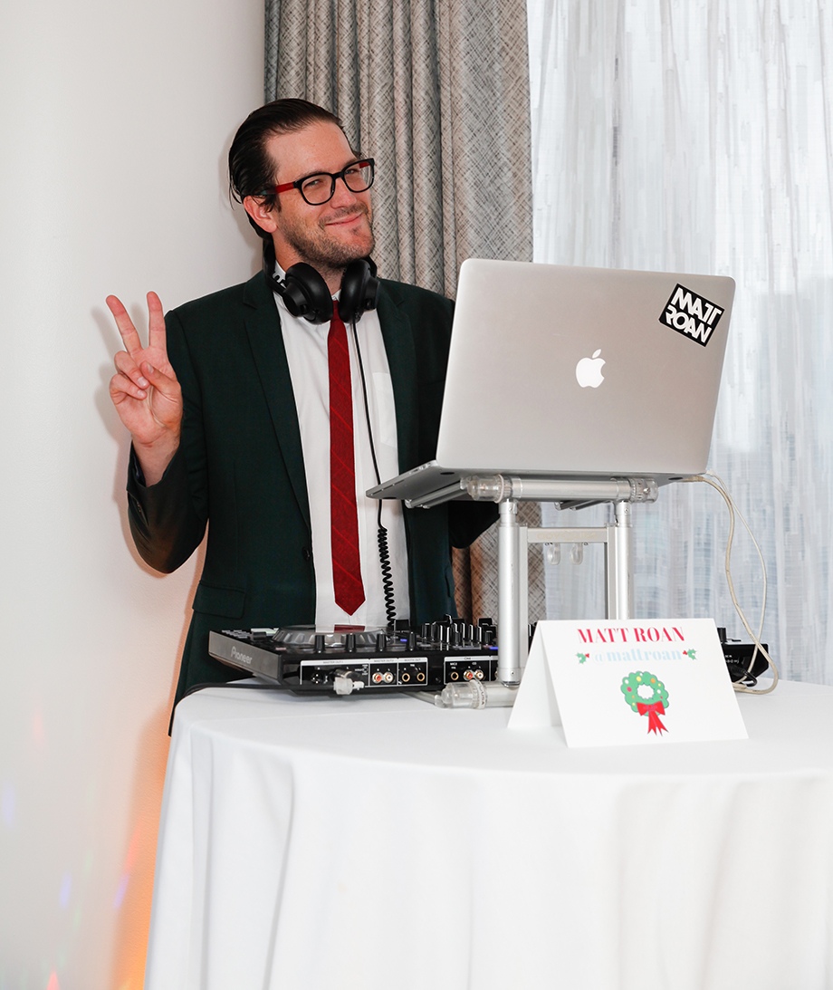 DJ Matt Roan plays music at Zelda's 4th Birthday Party at the Swissotel.
