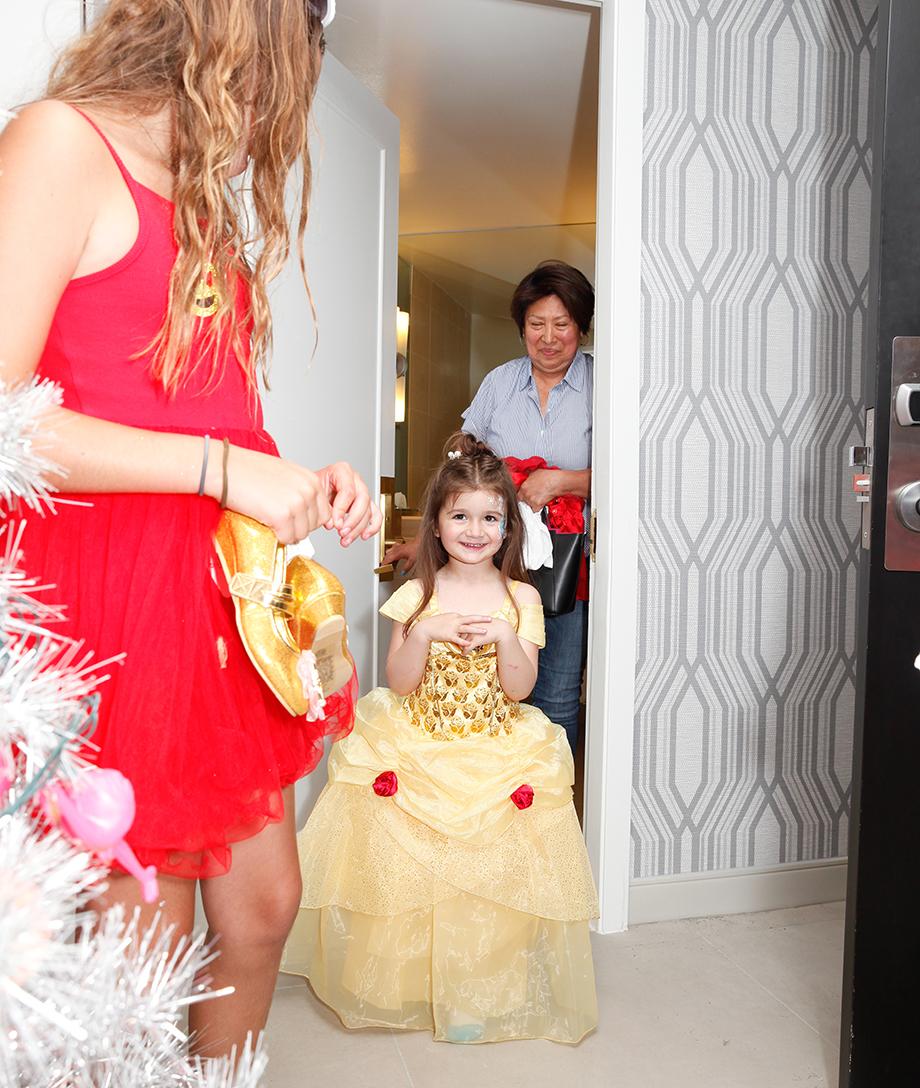 Zelda wears a princess dress.