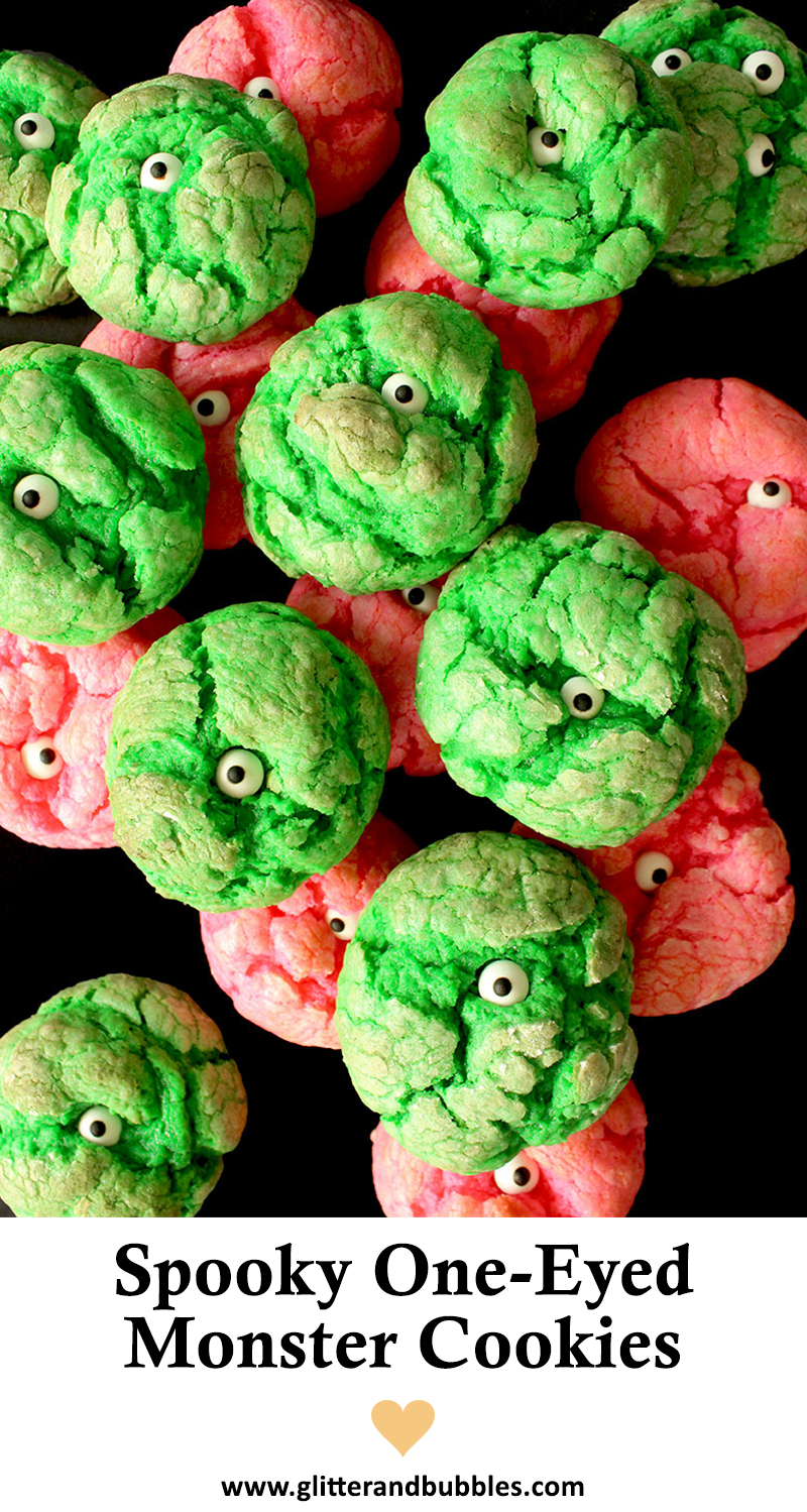 Spooky One-Eyed Monster Cookies for Halloween.