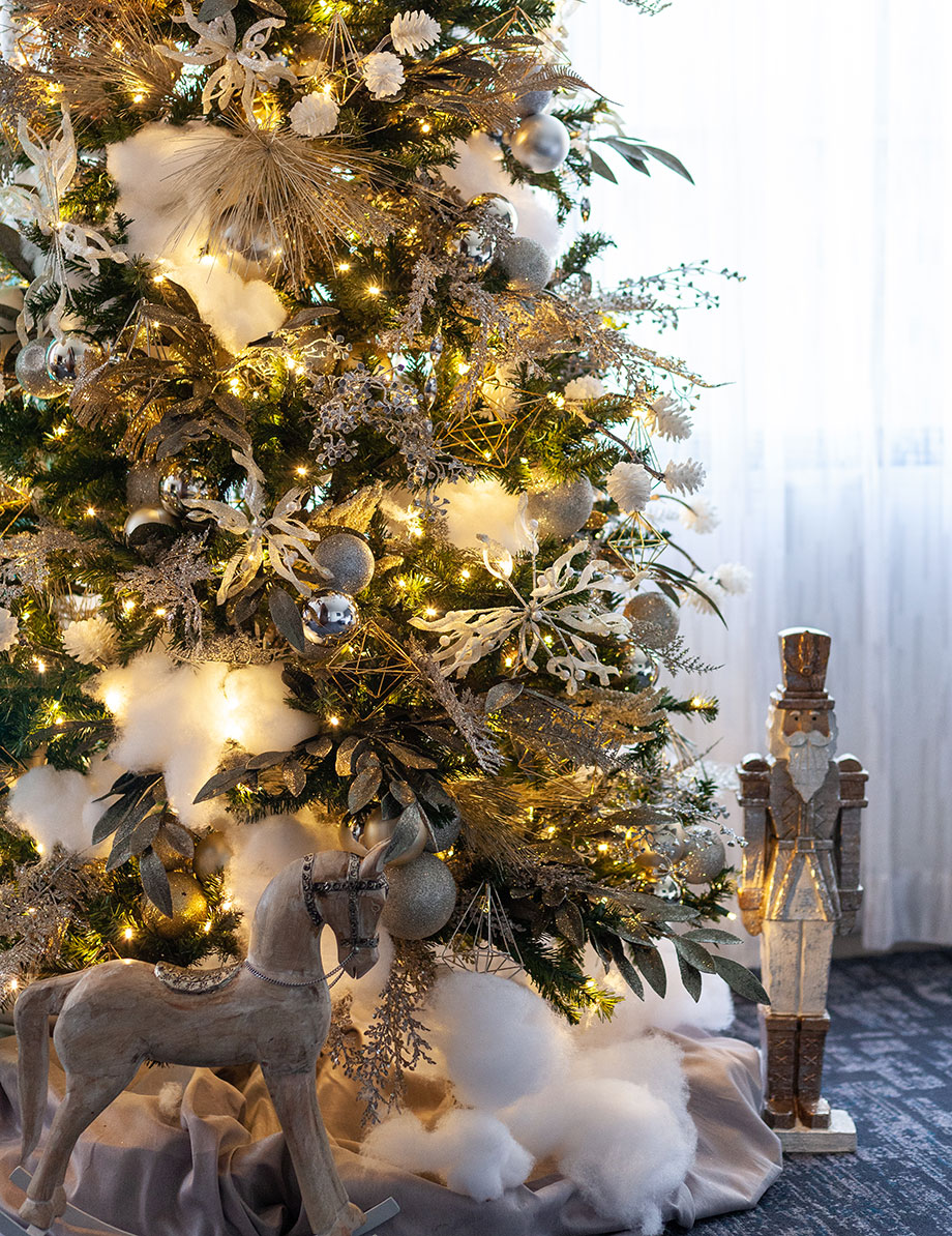 Christmas trees at the Swissotel.