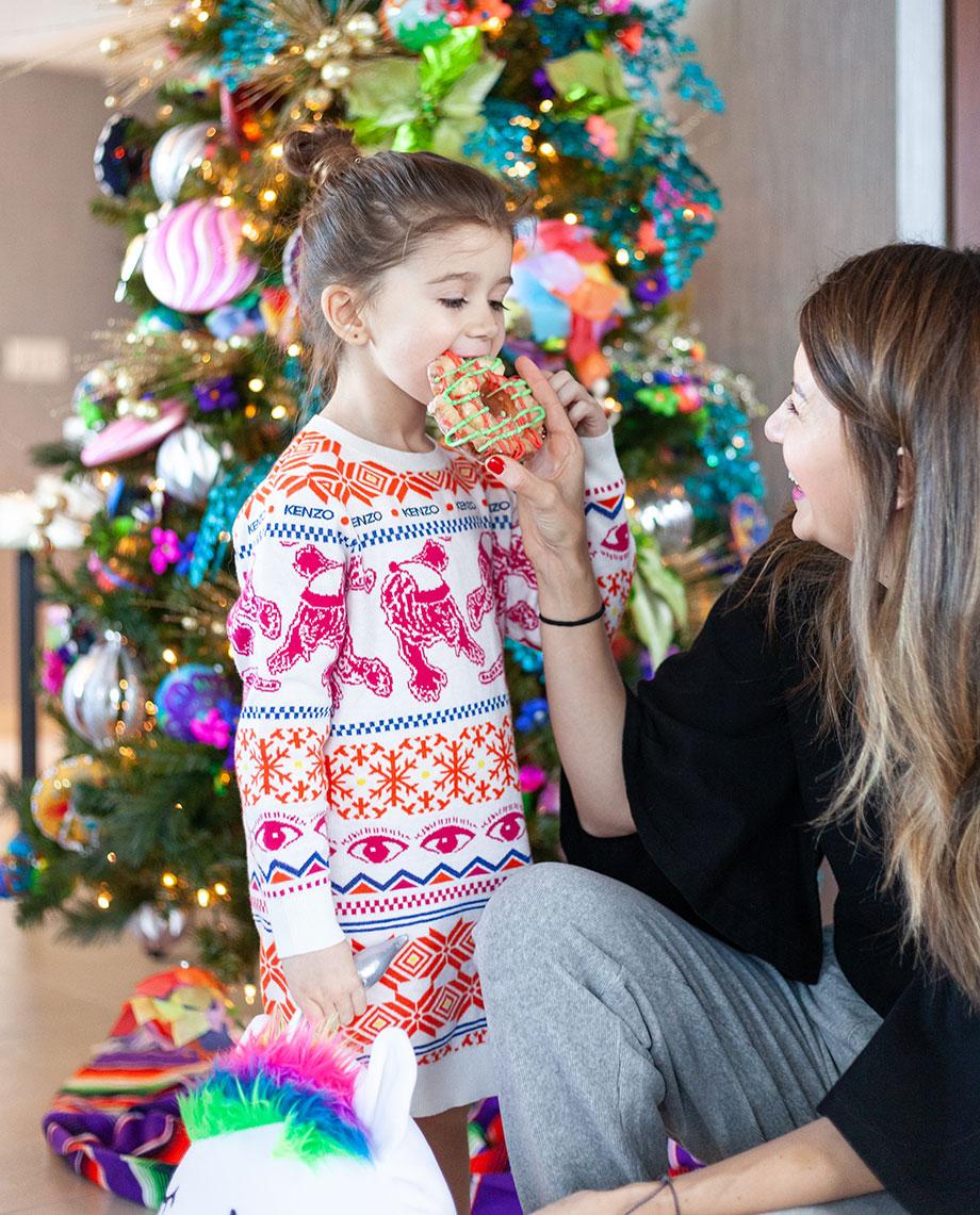 Corri and Zelda celebrate Christmas with Santa.