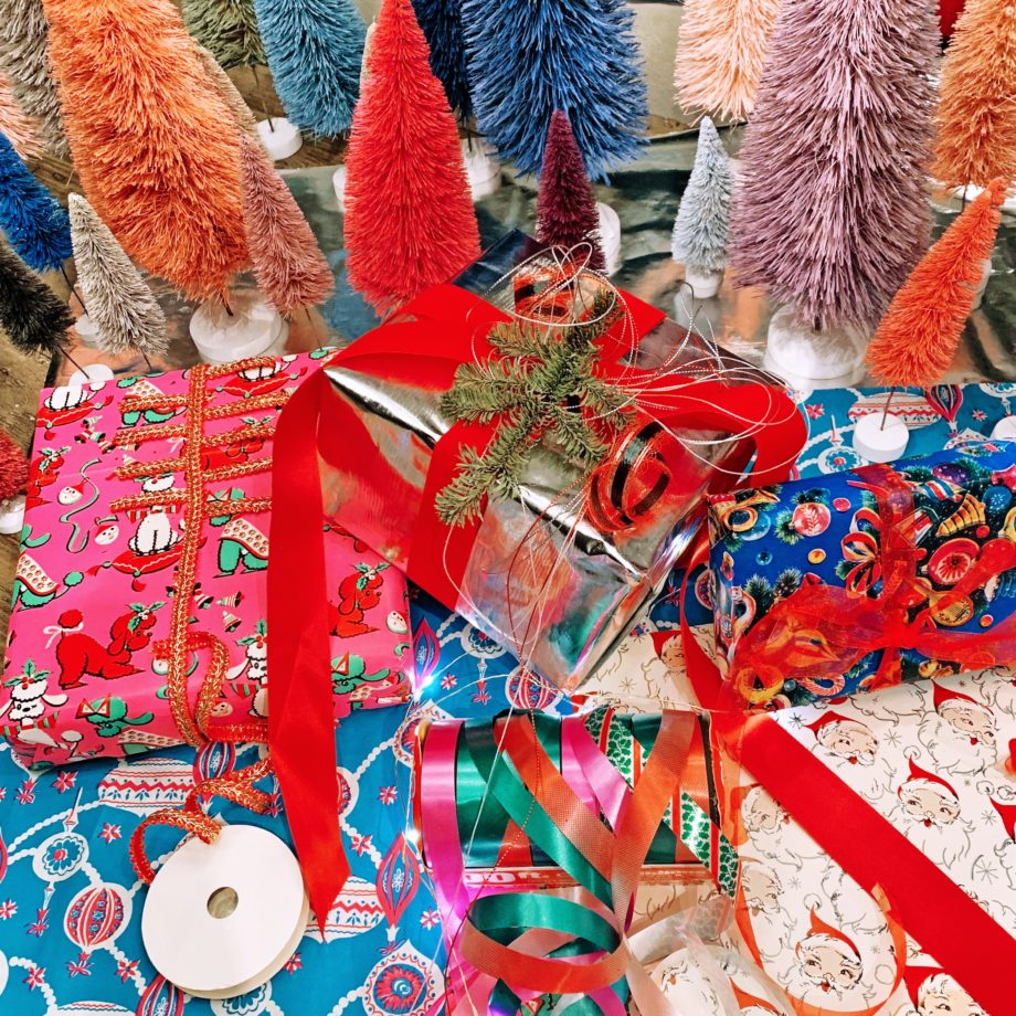 Where to find the best vintage Christmas wrapping paper.