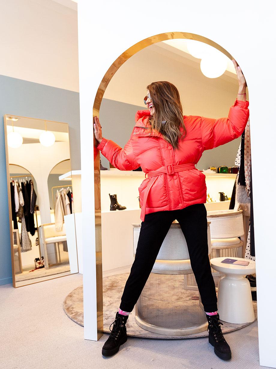 Corri McFadden shows off her favorite luxury winter coats in Aspen.