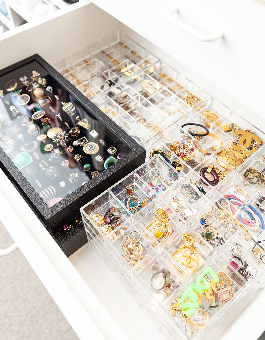 An easy hack to organize jewelry at home.