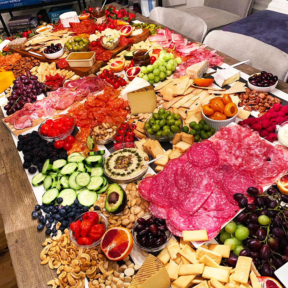 How to build the ultimate charcuterie table for your next party with Corri McFadden of Glitter and Bubbles.