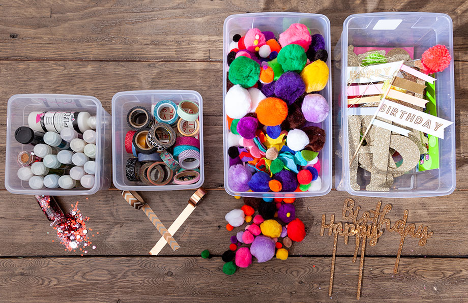 How to organize your craft supplies.