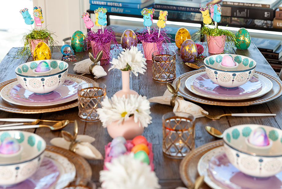 How to use items from around the house to make an Easter Table.