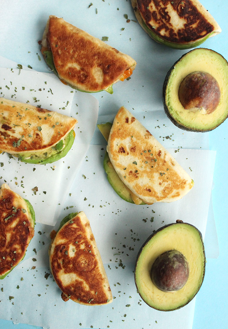 How to make after school avocado cheese quesadillas.