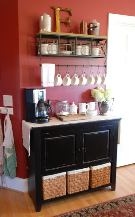 home coffee bar ideas  Glitter and Grapes