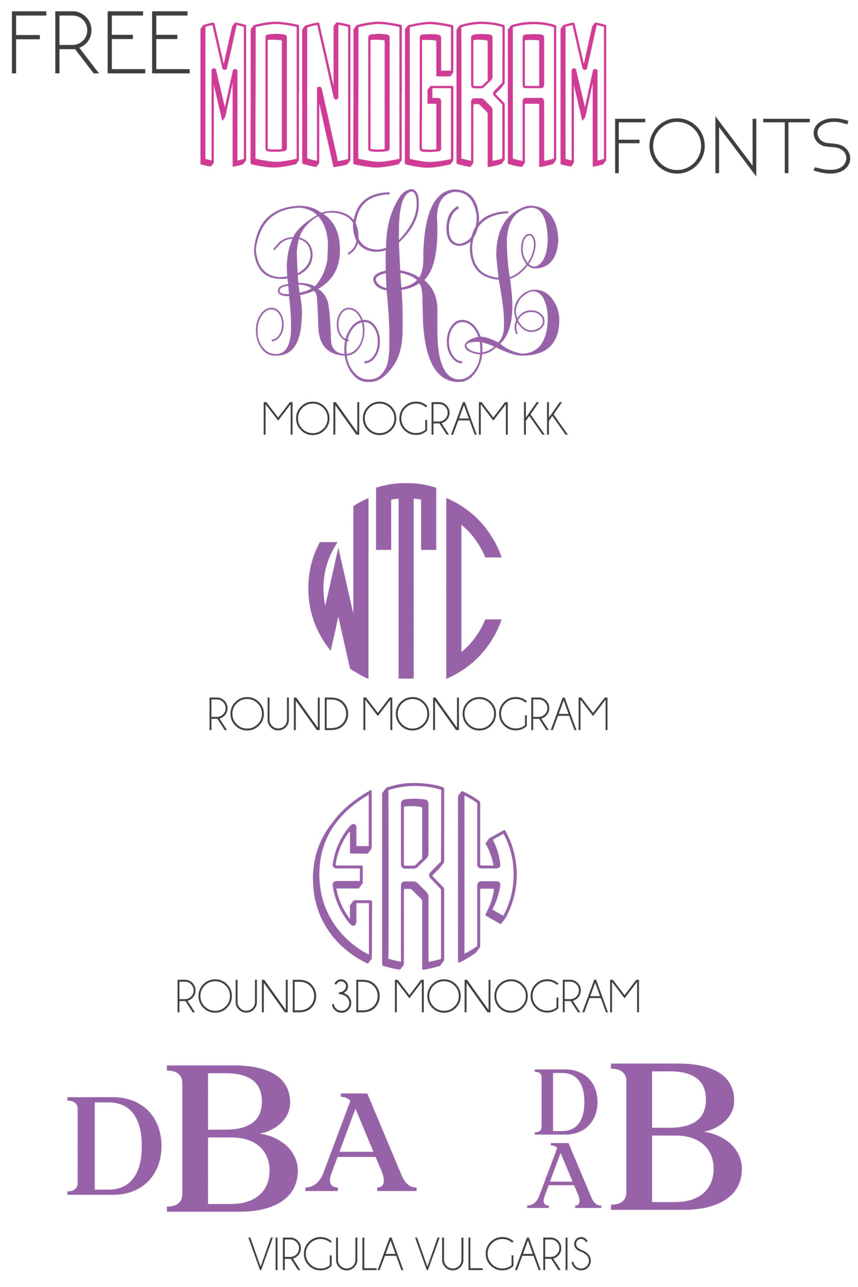 Best Font For Monogram : monogram, Monogram, Fonts, Glitter, Graze