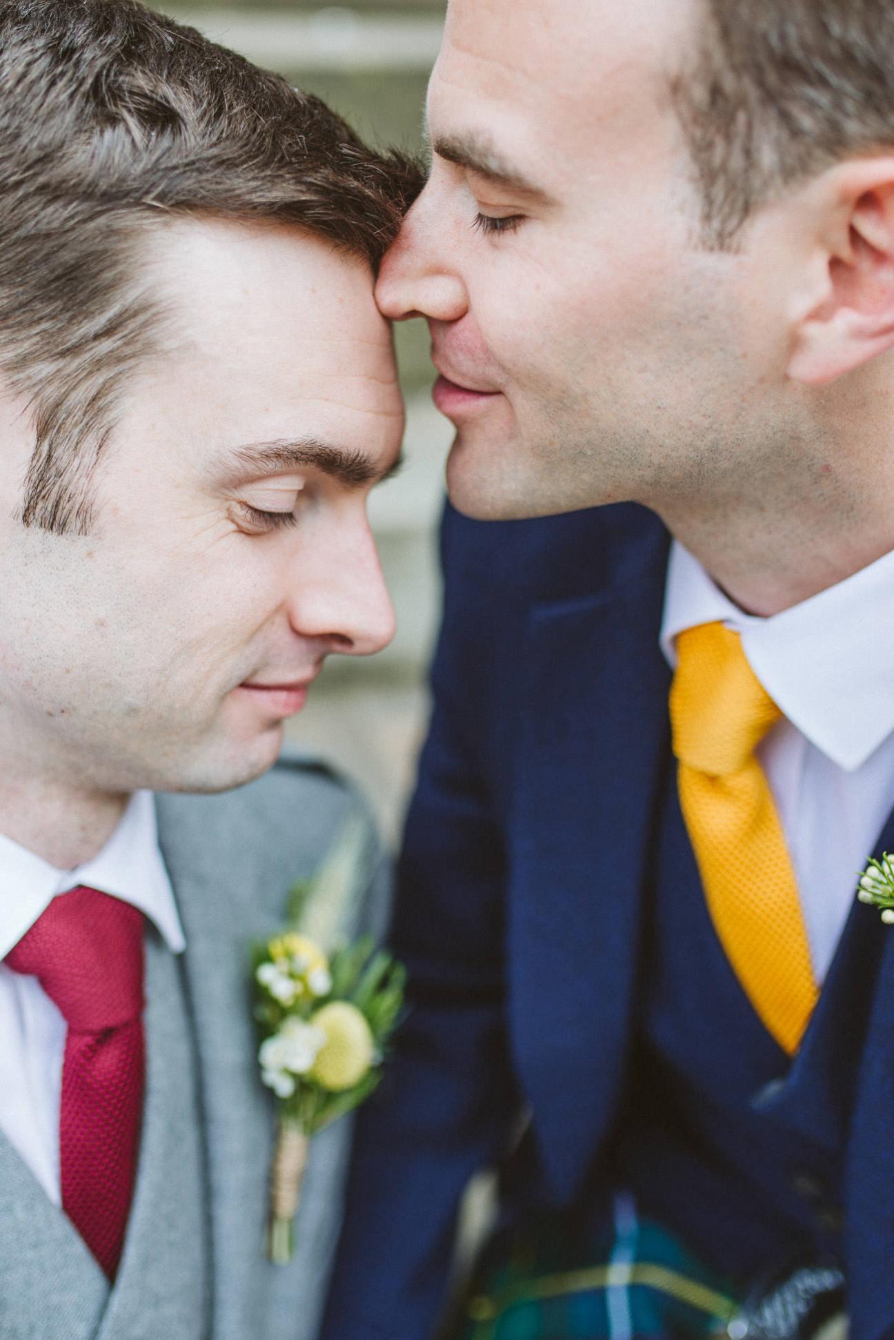 Natural, relaxed, pride, same-sex wedding photographer scotland