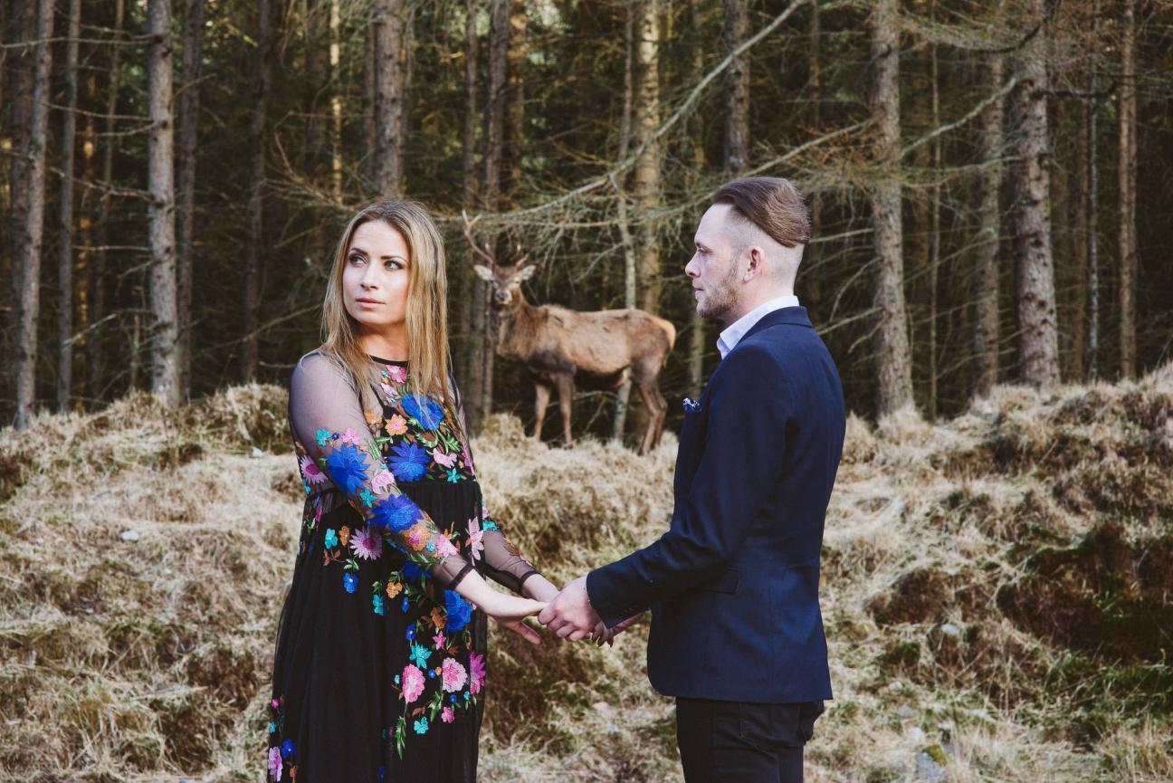 Engagement Shoot in Glen Etive, Highlands