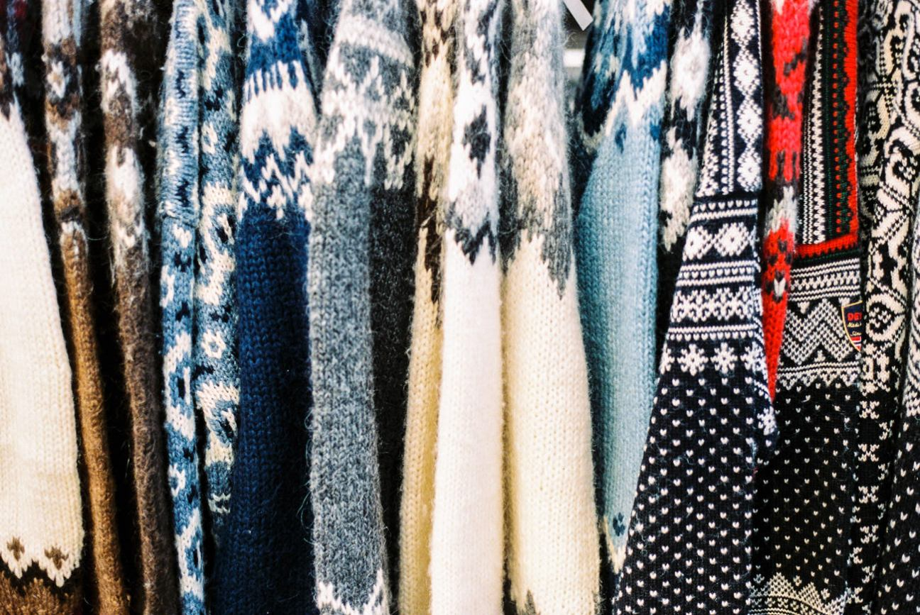 Typical Icelandic knit patterns.