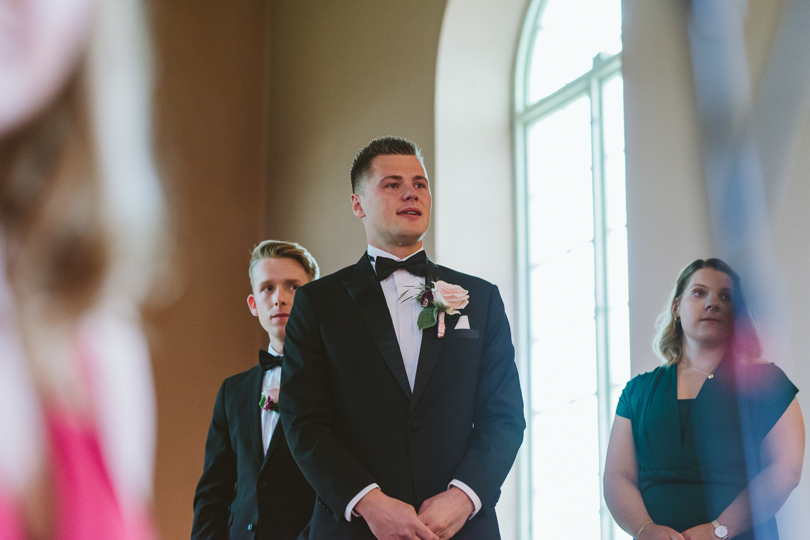 Groom Reacting to Bride - From my best wedding photos from 2019