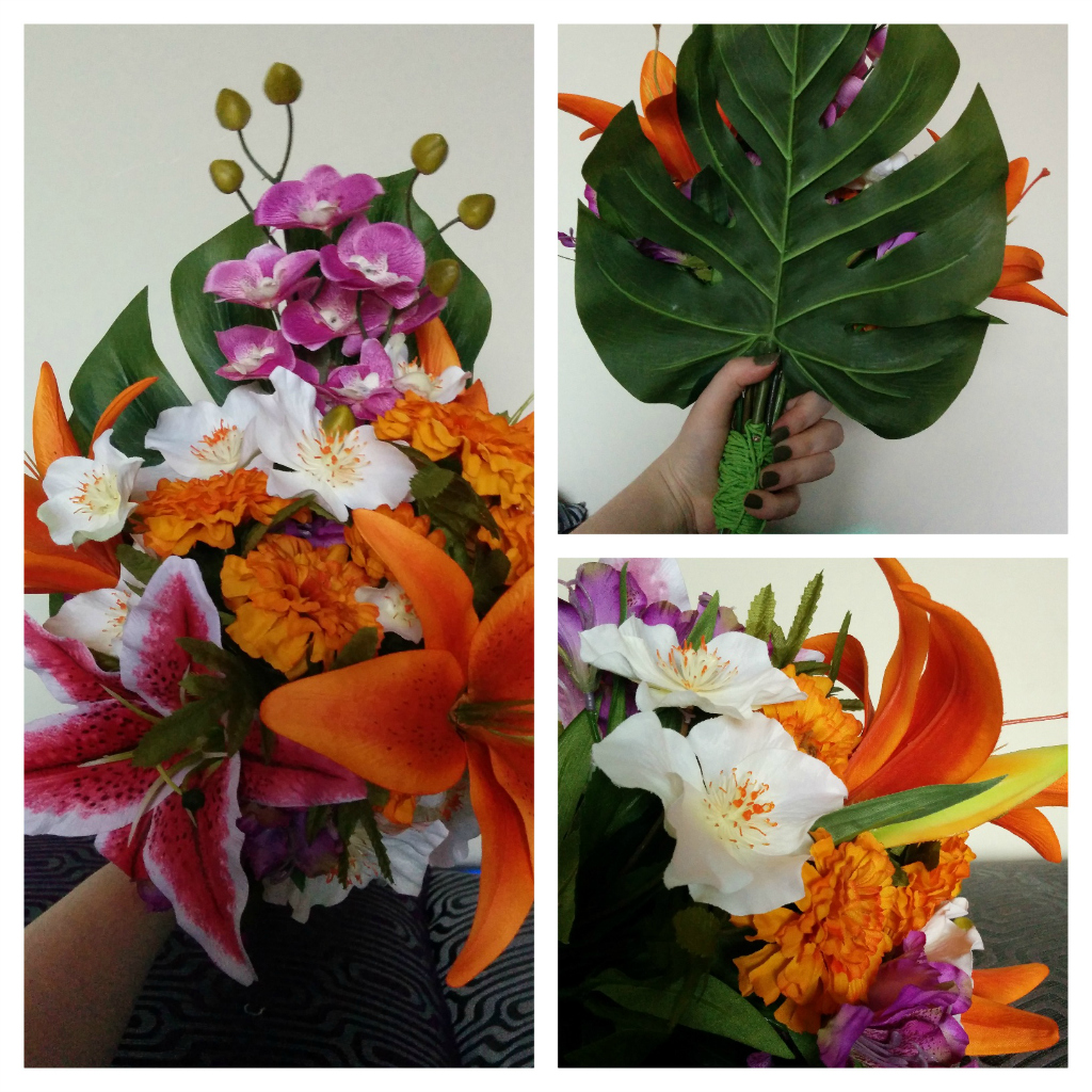 DIY Tropical Wedding Bouquet