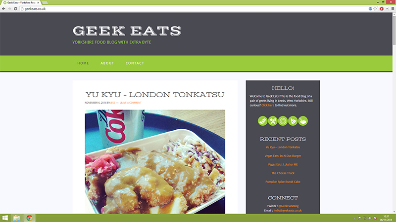 New Project: Geek Eats – Food Blog