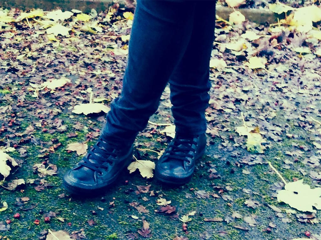 Black Leather Converse | Cloggs