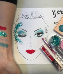 Cheer Makeup Glitter Girl Gold Coast
