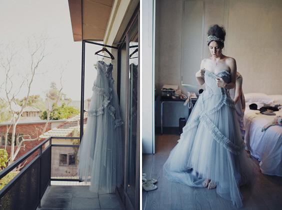 A Blue Wedding Dress  Glitter Inc
