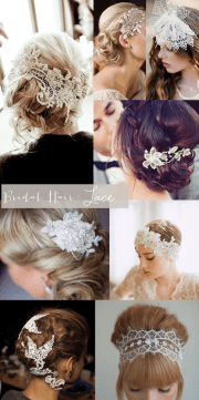 bridal style lace hair-pieces