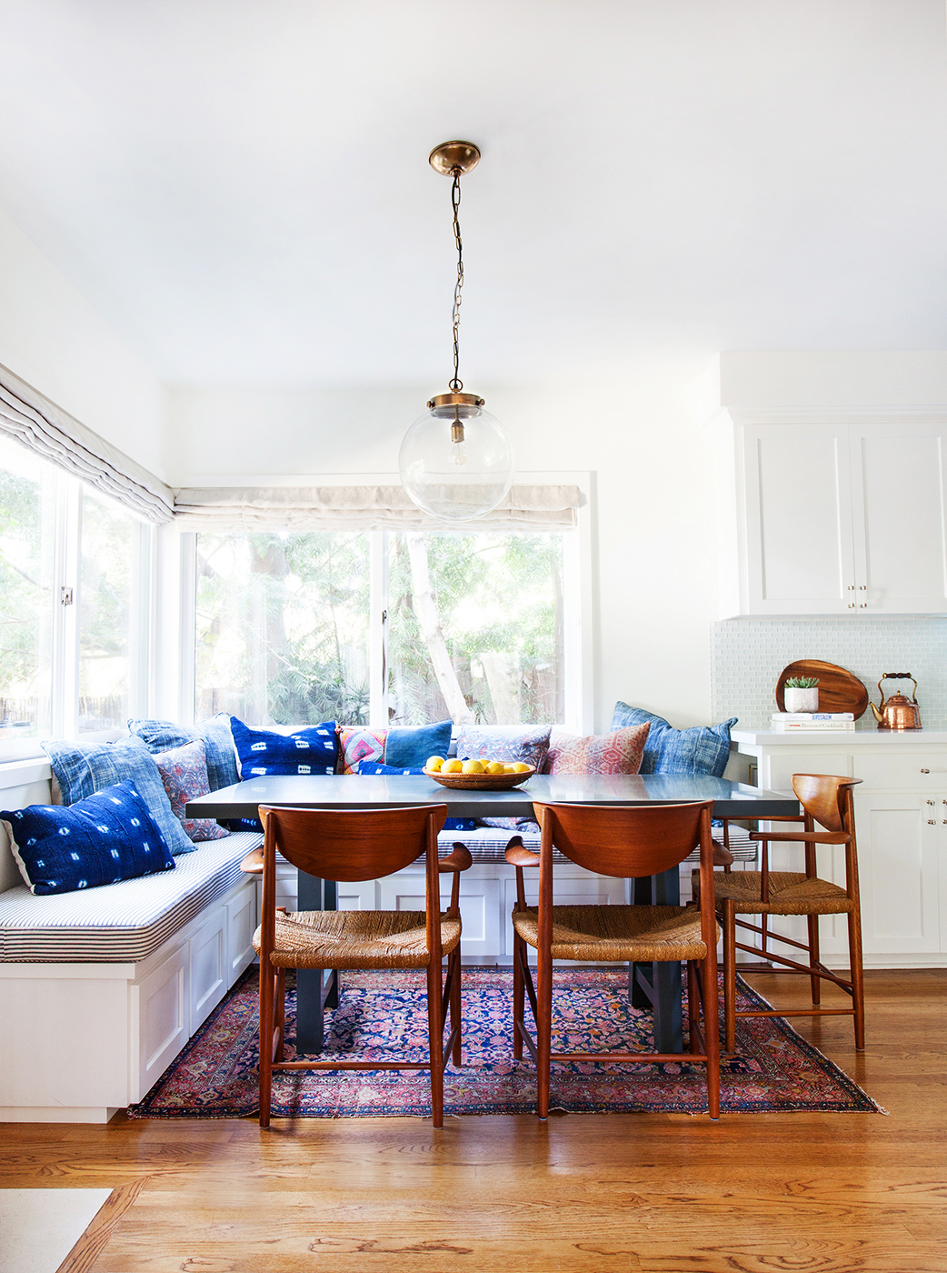 kitchen corner nook cost of remodelling a new familys bohemian eclectic california home glitter