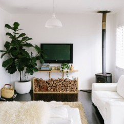 Bohemian Living Room Wall Ideas Small With Tv On Sleek Rustic Family Home | Glitter, Inc.