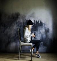 Design Dreaming: Watercolor Mural Wallpaper | Glitter, Inc.