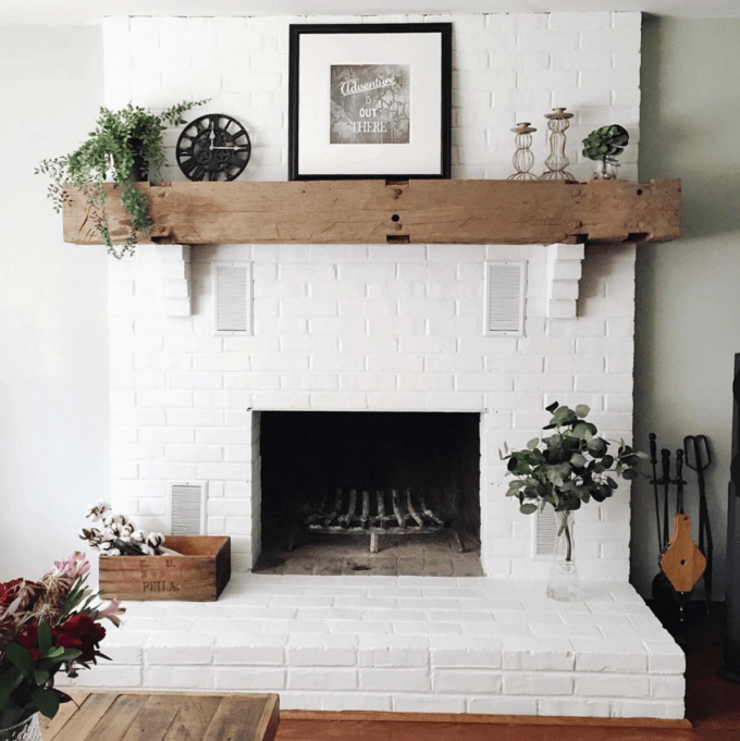 Fireplace Brick Paint Colors Get Inspired: The Diy White Brick Fireplace | Glitter, Inc