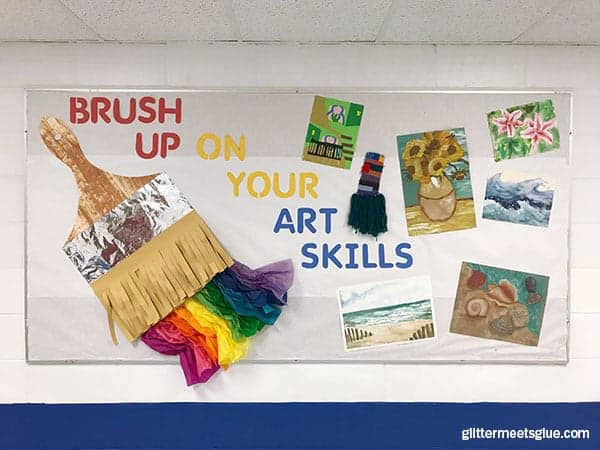 Art Bulletin Boards For Back To School Brush Up On Your