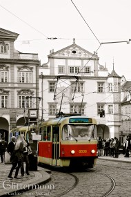 Red Trolley. In Prague.