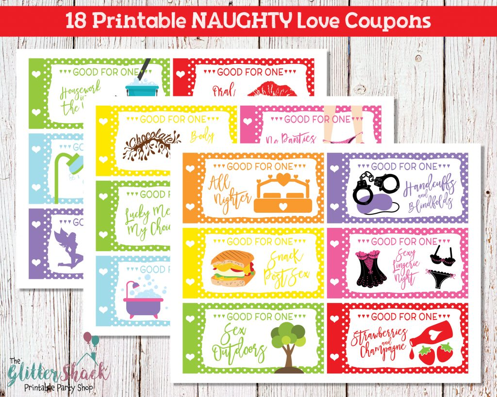Printable Naughty Valentines Coupons