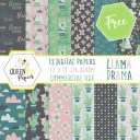 Free Digital (And Printable) Llama Scrapbook Paper