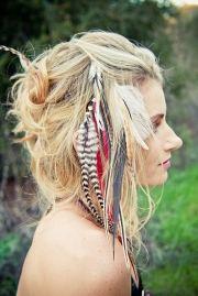 hair feathers glitter secrets