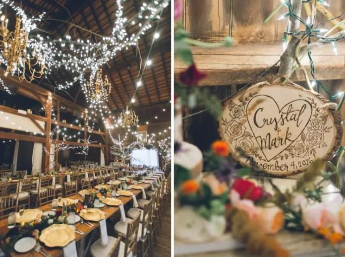rustic wood carved wedding